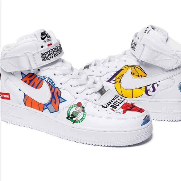 venta barata explorar venta imágenes Supremo Nike Nba Fuerza Aire 1 Tamaño 10 Pisos Blancos footlocker imágenes baratas envío libre recomienda uE2ElzrC